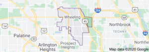 Wheeling IL Map